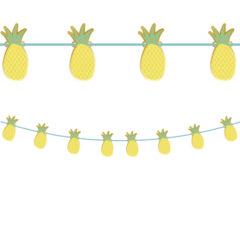 Pineapple Fresh - Paper Die-Cut Banner Metallic - 90599