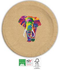 Elephant Compostable - Industrial Compostable Paper Plates 23 cm - 90604