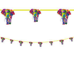 Elephant Compostable - Paper Die-Cut Banner (8 Flags) - 90609