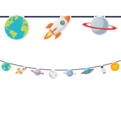 Outer Space - Paper Die-Cut Banner - 90623
