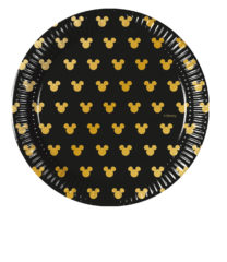 Mickey Gold - Paper Plates 20 cm - 90700