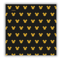 Mickey Gold. - Two-Ply Paper Napkins 33x33 cm - 90702