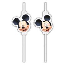 Playful Mickey - Medallion Paper Drinking Straws - 90726