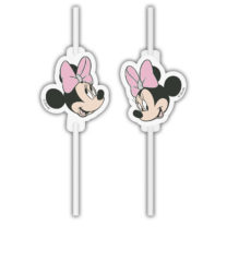 Minnie Unicorn - Medallion Paper Drinking Straws - 90727