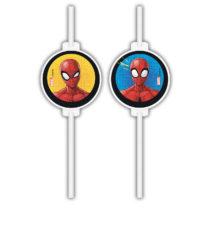 Spider-Man Team Up - Medallion Paper Drinking Straws - 90731
