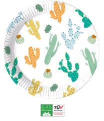 Cacti Compostable - Industrial Compostable Paper Plates Large 23 cm FSC - 90807