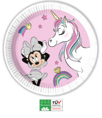 Minnie Unicorn Dreams Compostable - Industrial Compostable Paper Plates Large 23 cm  - 90813