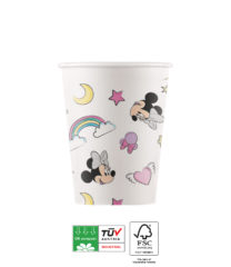 Minnie Unicorn Dreams Compostable - Industrial Compostable Paper Cups 200ml  - 90814