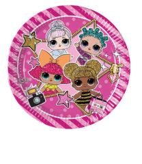 LOL Glitterati - Paper Plates Medium 20cm (Metallic) - 90856