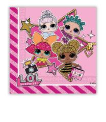LOL Glitterati - Two-Ply Paper Napkins 33x33 cm - 90859