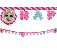 "LOL Glitterati - ""Happy Birthday"" Letter Banner - 90863"