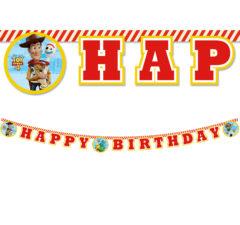 "Toy Story 4 - ""Happy Birthday"" Paper Banner 2m - 90876"