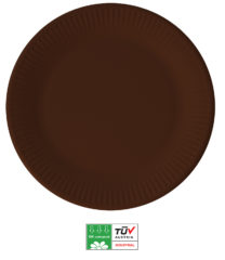 Solid Color Compostable - Industrial Compostable Paper Plates Large 23cm (Brown) - 90901