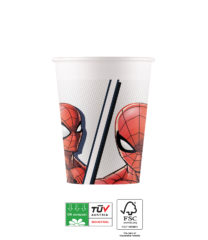 Spider-Man Superhero Compostable - Paper Cups 200ml FSC - 90949