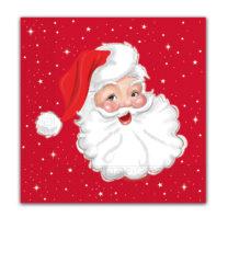 Seasonal Napkin Designs - Santa's Portrait Three-Ply Paper Napkins 33x33 cm. - 90962