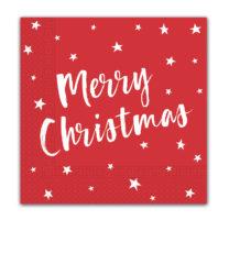 Seasonal Napkin Designs - Festive Stars Three-Ply Paper Napkins 33x33 cm. - 90963