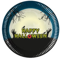 Halloween Scary Moon - Paper Plates 23 cm - 90973