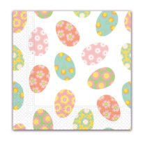Seasonal Napkin Designs - Floral Eggs Three-Ply Paper Napkins 33x33 cm. - 90978