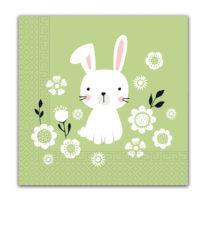 Seasonal Napkin Designs - Joyful Rabbit Three-Ply Paper Napkins 33x33 cm. - 90979