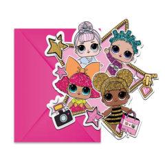 LOL Glitterati - Die-Cut Invitations & Envelopes - 91045