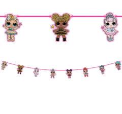 LOL Glitterati - Paper Die-Cut Banner - 91055