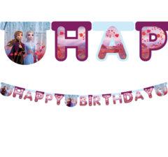 """Frozen 2 - """"Happy Birthday"""" Die-Cut Banner - 91132"""