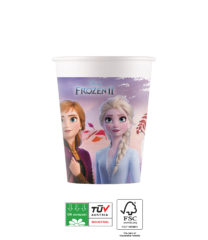 Frozen 2 Destiny Awaits Compostable - Paper Cups 200 ml Industrial Compostable FSC - 91147