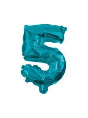 Numeral Foil Balloons - 32 cm Blue Foil Balloon No. 5 - 91224