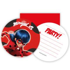 Miraculous Ladybag - Die-Cut Invitations & Envelopes - 91351