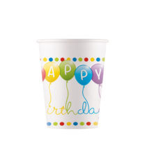 Happy Birthday Streamers - Paper Cups 200 ml - 91441