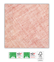 Solid Color Compostable - Home & Industrial Compostable Red Three-Ply Napkins FSC - 91494