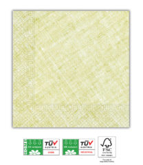 Solid Color Compostable - Home & Industrial Compostable Lime Green Three-Ply Napkins 33x33 cm FSC - 91496