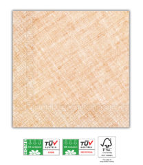 Solid Color Compostable - Home & Industrial Compostable Orange Three-Ply Napkins 33x33 cm FSC - 91498