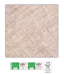 Solid Color Compostable - Home & Industrial Compostable Brown Three-Ply Napkins 33x33 cm FSC - 91502