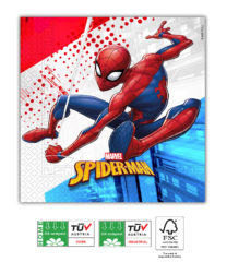Spider-Man Superhero Compostable - Three-ply Paper Napkins 33x33cm FSC - 91508