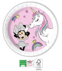 Minnie Unicorn Dreams Compostable - Industrial Compostable Paper Plates 20 cm - 91515