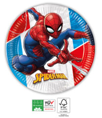 Spider-Man Superhero Compostable - Paper Plates 20 cm FSC - 91517