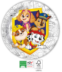 Paw Patrol Yelp For Action Compostable - Industrial Compostable Paper Plates 23 cm FSC - 91657