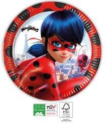 Miraculous Ladybug Compostable - Industrial Compostable Paper Plates 23 cm FSC - 91659