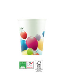 Flying Balloons Compostable - Industrial Compostable Paper Cups 200 ml - 91661