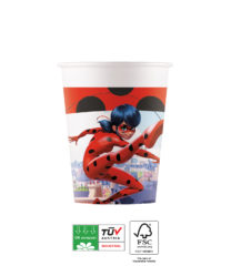 Miraculous Ladybug Compostable - Industrial Compostable Paper Cups 200 ml FSC - 91662