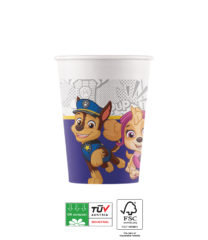 Paw Patrol Yelp For Action Compostable - Industrial Compostable Paper Cups 200 ml FSC - 91663