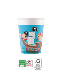Pirates Treasure Hunt Compostable - Industrial Compostable Cups 200 ml FSC - 91664