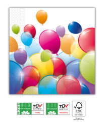 Flying Balloons Compostable - Home & Industrial Compostable Paper Napkins 33x33 cm - 91667