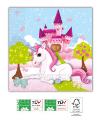 Unicorn Compostable - Home & Industrial Compostable Three-Ply Napkins 33x33 FSC - 91669