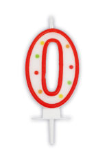 Numeral Candles - Dots Numeral Candle No. 0 - 91671
