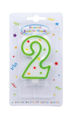 Numeral Candles - Dots Numeral Candle No. 2 - 91673