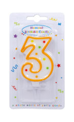 Numeral Candles - Dots Numeral Candle No. 3 - 91674
