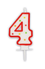 Numeral Candles - Dots Numeral Candle No. 4 - 91675