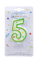 Numeral Candles - Dots Numeral Candle No. 5 - 91676